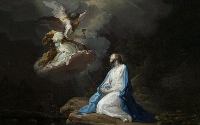 Tela: Corrado Giaquinto (1703-1766) Detalhe da obra: A oração no Horto.
