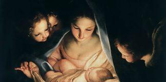 Tela: Carlo Maratti (1625-1713) Título da obra: A noite sagrada (o nascimento de Jesus).
