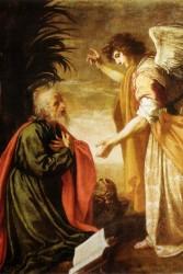 Tela: Jacopo Vignali (1592-1664) Título da obra: João Evangelista em Patmos.