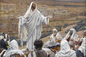 Tela: James Tissot (1836-1902) Detalhe da obra intitulada: A Oração do Senhor.