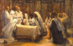 Tela: James Tissot (1836-1902) Título da obra: A comunhão dos Apóstolos.