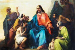 Tela: Michelangelo Grigoletti (1801-1870) Detalhe da obra: O Sermão da Montanha.